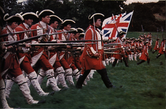 British attack in  the film Barry Lyndon
