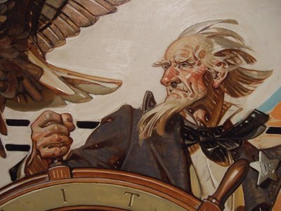 Detail, . C. Leyendecker, Uncle Sam at the Helm, July Fourth, 1936