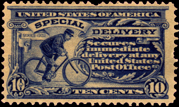US bike messenger stamp 1902