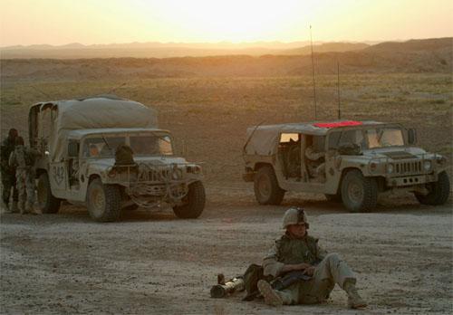 Pre-dawn raid, Ain Lalin, Iraq