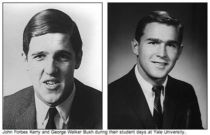 Bush and Kerry, Yale pictures