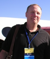 Me in front of SpaceShipOne at the X-Prize Competition