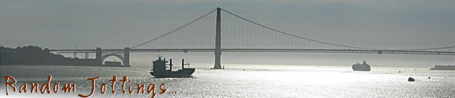 GG Bridge and freighter