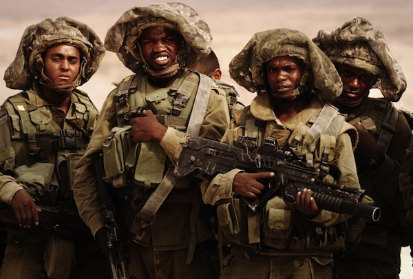 IDF paratroopers in training