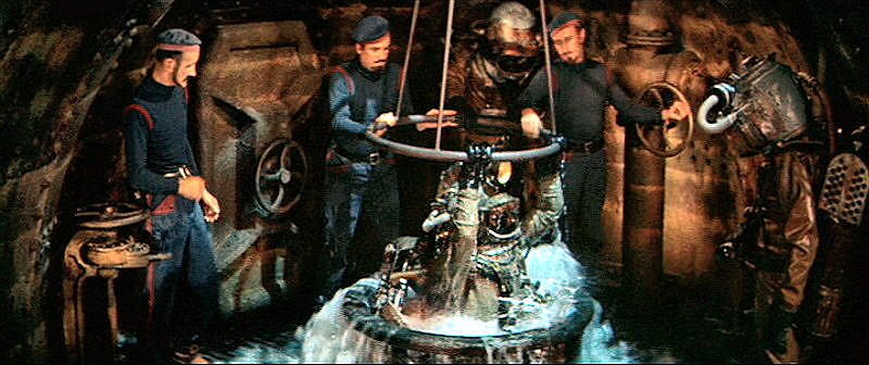 Divers from 20,000 Leagues re-enter submarine Nautilus