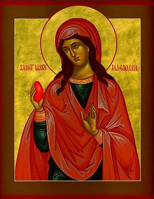 St Mary magdalen with miraculous egg that turned red