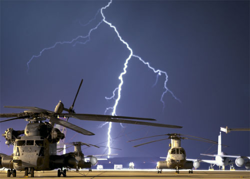 Lightning strike at Edwards AFB