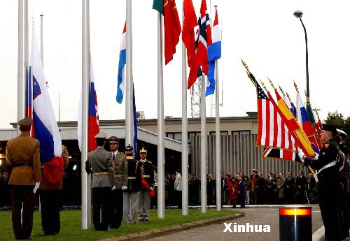 Flags raised for new members of NATO