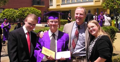 Rob's high school graduation