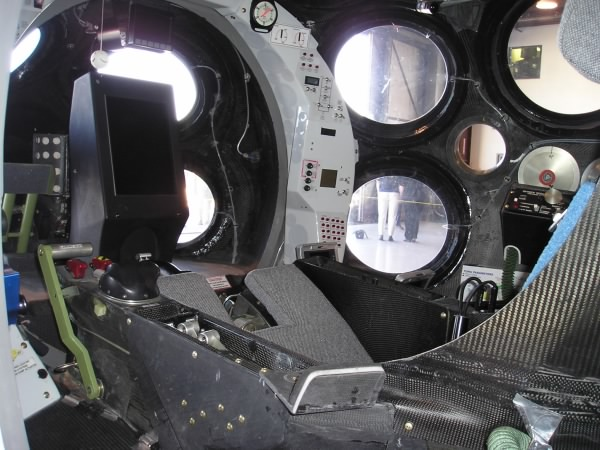 Cockpit of SpaceShipOne