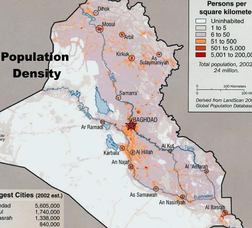 Iraq population density