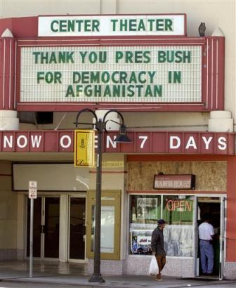 Afghan elections thank-you in Freemont, Calif.
