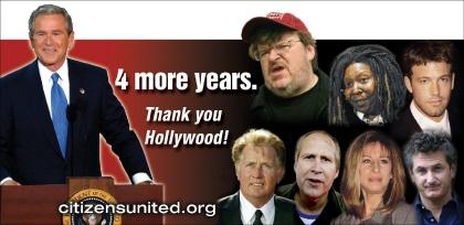 Billboard thanking Hollywood for Bush election