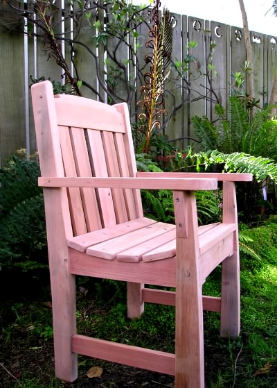Redwood garden chair