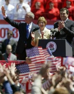 George and Laura Bush in Georgia