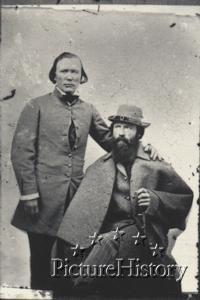Kit Carson, Lafayette Baker (seated)