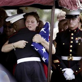 Funeral for fallen Marine