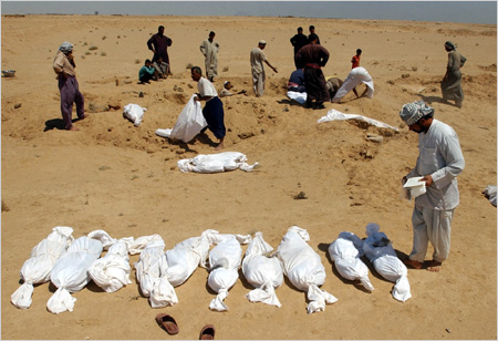 Mass grave in Iraq