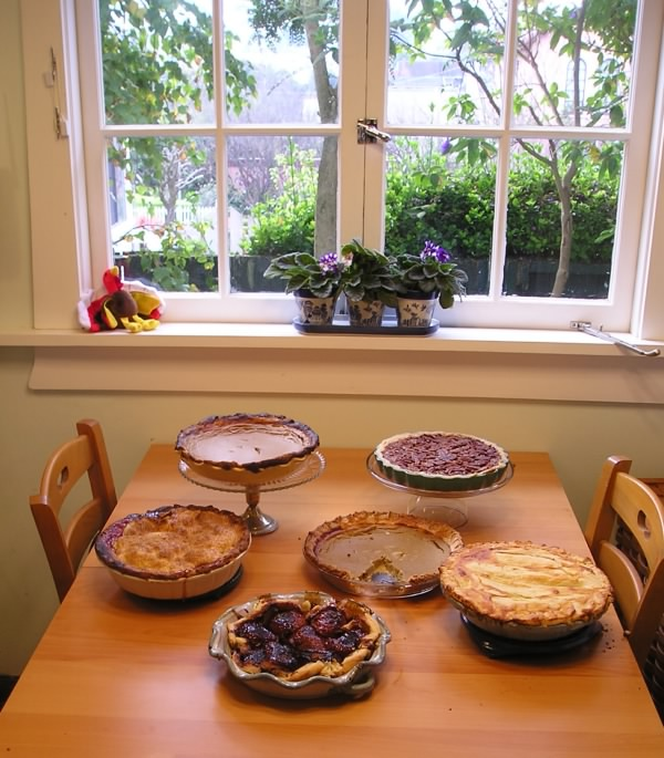 Pies, Thanksgiving 2005