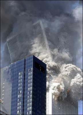 WTC tower falling