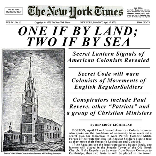 NYT: One if by land, two if by sea
