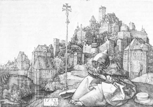 St Anthony, engraving by  Dürer