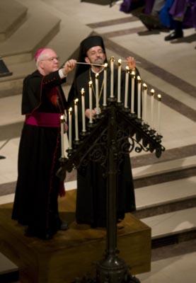 Archbishop and Metropolitan Light Candle