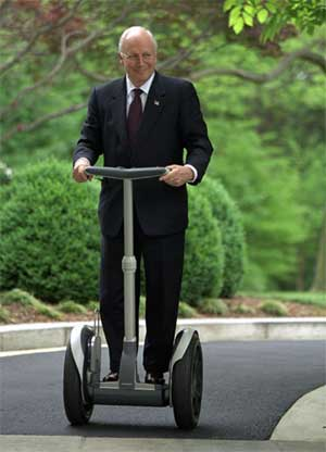 Dick Cheney on a Segway