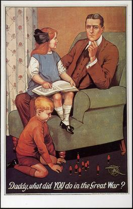 Poster: Daddy, What Did You Do In The Great War?