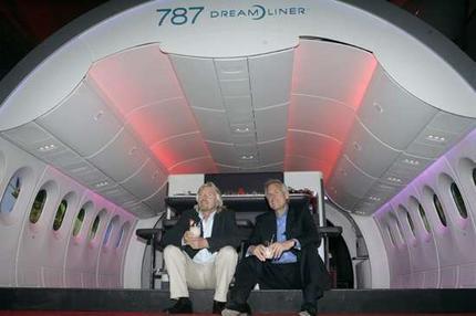 Boeing Dreamliner cabin interior