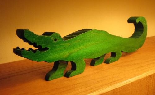 Scrollsaw toy alligator