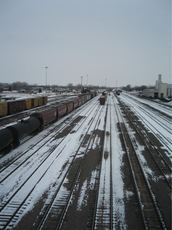 Train Yard in Grand Forks, ND