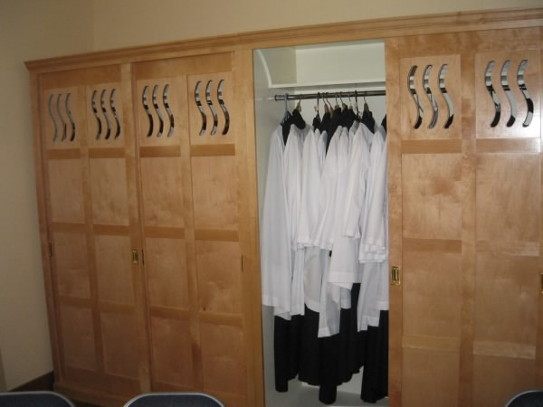 Wardrobes for choir room, St Dominic's Parish