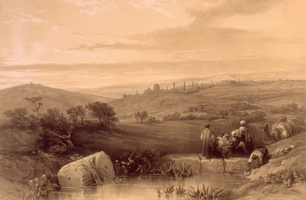 Jerusalem view by David Roberts, about 1845