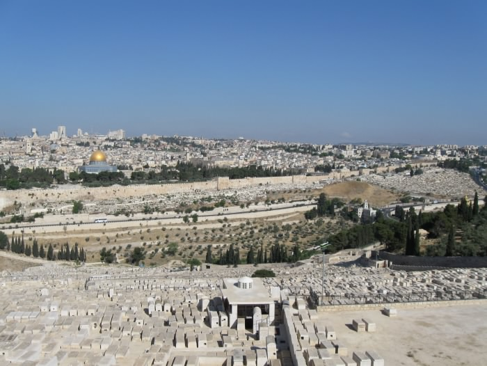 Mount of Olives, looking west over Kidron