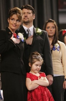 Palin family, Piper with tiara
