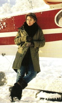 Sara Palin with ski plane