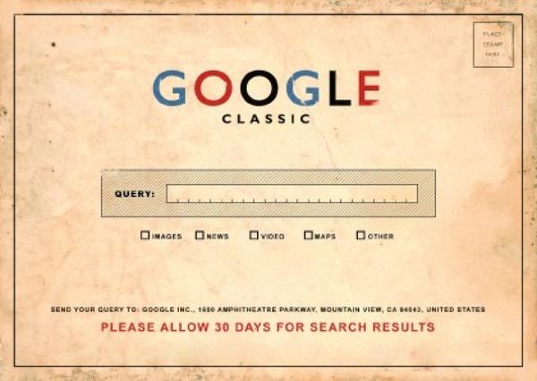 """Google Classic"" postcard"