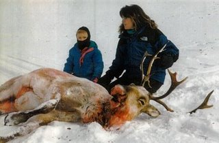 Sara Palin with dead caribou