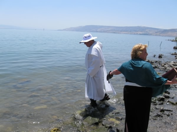 Francis and Shelley by Sea of Galilee